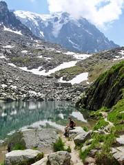 Lac Bleu. Chamonix. Blue Lake. (elsa11) Tags: lacbleu bluelake chamonix montblancmassif chamonixvalley mountains montagnes alpes alps alpen hautesavoie auvergnerhonealpes france frankrijk mountainlake bergmeer explore