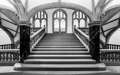 _I/=\I_ (Blende1.8) Tags: stair stairs stairway treppe treppenhaus arche arches arch bogen bögen old staircase säule säulen column pillar steps stufen interior architecture architektur indoor museum münster symmetry symmetrie mono monochrome monochrom sw black white schwarzweiss