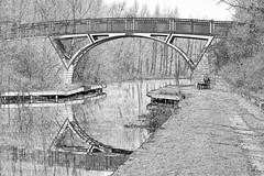 Canal (kieronlong23) Tags: photodrawing photography sheffield abstractphotographyart abstractart canal blackandwhite