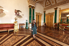 Beauty in the malachite room (fedoseenko) Tags: красота colours beauty blissful loveliness beautiful живопись painting art shine blue голубой picture картина people exhibition выставка санктпетербург россия colour saintpetersburg russia view pavilion hall hermitage эрмитаж architecture building chandelier ceiling room зимний дворец winter palace rotunda arch statue green girl gold light lady flowering девушка pretty лазурный portrait winterpalace зимнийдворец здание малахит malachiteroom dazzling color old mood golden tsar