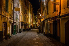 The streets of San Remo...... (Dafydd Penguin) Tags: maze labyrinth alleyways streets night shots after dark old quarter hand held high iso san remo sanremo italy italian riviera mediterranean city urban town raw leica m10 summicron 35mm f2