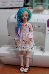 wip cuteness for Rain Fox Doll (Vitarja) Tags: hinko miyadoll charlotte milktea bjd mushroomrain rainfoxdoll dress clothes cute original prints