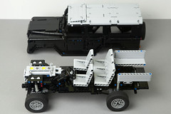 IMG_1128 (dirtzonemaster) Tags: lego technic land rover defender landrover discovery rangerover 4x4 suspension offroad frame engine