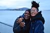 Kay with her friend enjoying the evening (radargeek) Tags: sanfransisco ca california 2018 march alcatraz portrait smile smoking