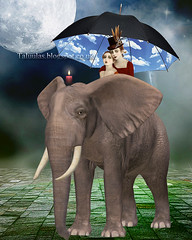 For the Digitalmania (altered Gainsborough) challenge. (Taluula2two) Tags: digitalmania gainsborough elephant rubyblossom bluesse pixabay publicdomain