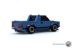 VW MK1 Caddy rear - 6-wide - Lego (Sir.Manperson) Tags: moc town lego vw caddy 6wide ldd render h