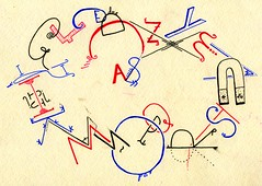 Alphabet (Daniel Ari Friedman) Tags: paper pen ink draw drawing codraw pppip snug love person art creative beautiful freehand cartoon black white bw red color blue alphabet z ring circle font lettering letters word fonts cursive