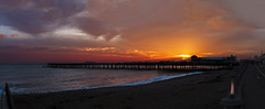 The end of a beautiful day  :) (Jacko 999) Tags: sunset sun sea hastings hastingspier roberteede canon panorama beach beautiful pretty color colors colour colours warm seascape pier niftyfifty 50mm 50mmlens 5dmkiii