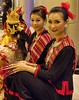 Thai Dancers (Steve4343) Tags: steve4343 red green yellow blue colors thai dancers resting break relax smile smiling beautiful