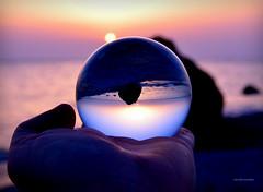 Sunset sfhere (Arcieri Saverio) Tags: calabria italy sunset sun sky tramonti sfera lens lensball ball glasses glassesball cristallo crystal vetro mare sole nikon d5300 macro art arte artist
