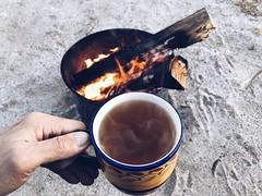 teatime   [ explored! ] (killyourcar) Tags: earlymorning camping camp decomposedgranite dg campfire fire socal desert teacup greentea