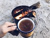 teatime   [ explored! ] (killyourcar) Tags: earlymorning camping camp decomposedgranite dg campfire fire socal desert teacup greentea