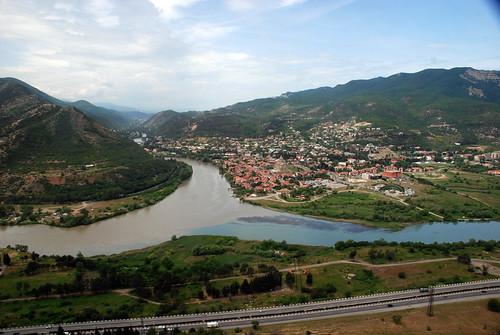 View to Mtskheta from Jvari