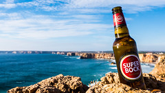Sagres vs. Superbock (valentin.schachinger) Tags: sagres algarve portugal beer bier cerveja atlantic klippe klippen cliffs superbock