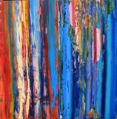 the blues (Peter Wachtmeister) Tags: artinformel art mysticart modernart popart artbrut phantasticart abstract abstrakterimpressionismus abstrakt acrylicpaint surrealismus surrealism hanspeterwachtmeister