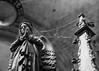 Dusty idols (Vol'tordu) Tags: statue religion catholic spiderweb angel gothic prayer praying pray