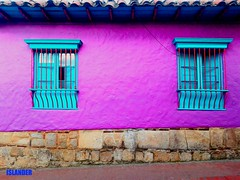 Facades of Colombia (emilioescalona) Tags: colombia bogotá southamerica doorsandwindows facades casasantiguas violeta