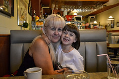 Rose and Her Grandma at Friends and Neighbors Cafe (Vegan Butterfly) Tags: friends neighbors cafe edmonton people child kid grandma grandmother family together love cute adorable happy smile smiling