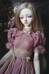 Antic Heather (AyuAna) Tags: bjd ball jointed doll dollfie ayuana design minidesign handmade ooak clothing clothes dress set outfit vetement robe gown historical secession style sewing sewingfordolls sd sd13 sd10 feeple60 size little monica littlemonica chloe whiteskin