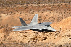 FIFTH GENERATION (Dafydd RJ Phillips) Tags: f22 raptor 5th fifth generation low level california nellis afb usa death valley