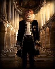 The Beast (Repp1) Tags: costume portrait lion man homme composite beast bête versailles highcontrast contrasteélevé