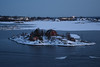 Helsinki harbour (JohntheFinn) Tags: helsinki suomi finland europe capital harbor winter ice snow floe islands sunset