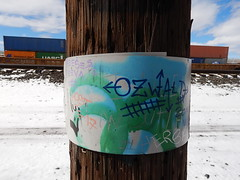 Ozwald - Most (Railroad Rat) Tags: freight train riding hopping graffiti monikers art railroad dumpster diving camping reclaim traveling wander america united states union pacific culture high desert snow feather river route overland