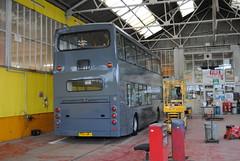 Blackpool Transport paint shop. (Hesterjenna Photography) Tags: palladium blackpooltransport blackpool transport travel dennis transit transbus trident paint busdepot eastlancs po51umj decker bus coach psv