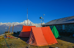 Tents on mountain of Annapurna Range (phuong.sg@gmail.com) Tags: activity adventure altitude base brave camp challenge climber climbing country courage day death destination environment expedition extreme glacier group hazardous high hike himalaya horizon location moraine mountaineering mountains nepal orange oxygen peak pursuit sport survival team tent travel trek valley zone