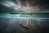 The snake, the waves and the clouds... (Grégory Dolivet) Tags: waves snake clouds sea seascape ocean saintbrevin longexposure poselongue sundown light branche sculpture