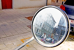 Belgium (kirstiecat) Tags: europe ghent gent belgium reflection mirror street canon vacation unusual bokeh framing depthoffield