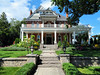 House, Port Hope, Ontario, Canada (duaneschermerhorn) Tags: house residence architecture architect grass lawn steps walk walkway tree shrubs bushes pillars columns