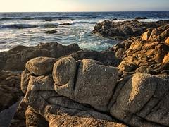 Pacific Grove, CA (dwblakey) Tags: evening outdoors rocks coast california pacificgrove pacificocean iphone