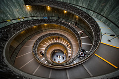 Bramante Staircase (Jakub Slovacek) Tags: bramantestaircase europe italia italy lazio museivaticani roma rome vatican vaticancitystate vaticanmuseums architecture doublehelixstaircase historical indoor landmark lights museum people perspective spiral staircase stairway step symmetry travel ngc