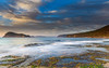 Early Morning Seascape with Clouds (Merrillie) Tags: daybreak sunrise nature dawn australia coast water morning sea newsouthwales rocks pearlbeach nsw rocky waterscape ocean earlymorning landscape waves coastal clouds outdoors seascape brokenbay centralcoast sky seaside