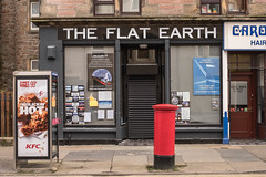 "WTF! The Triumph of Trump, The Flat Earth ""Shop"", Inverness (1 of 1) (johnawatson) Tags: xf35mmf14r fujifilmxpro2 inverness highland scotland trump shop crazy flatearth politics extreme"