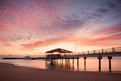Redcliffe Jetty Sunrise || QLD || AUSTRALIA (rhyspope) Tags: australia aussie qld queensland brisbane redcliffe jetty sunrise sunset pier wharf sea ocean marina marine water reflection boat yacht sky clouds color colour silhouette amazing travel rhys pope rhyspope canon 5d mkii