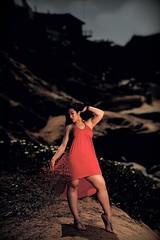 Particle dress (Dionardo Davinci) Tags: godox ad360 legs thick fashion oceanbeach model california springbreak hills cliff sand