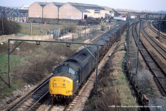 15/04/1983 - Darnall Junction, Sheffield, South Yorkshire. (53A Models) Tags: britishrail class37 37122 diesel freight darnalljunction sheffield southyorkshire train railway locomotive railroad