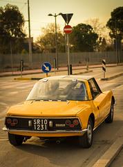 cool yellow car (coco0os) Tags: yellow car cesenatico oldtimer