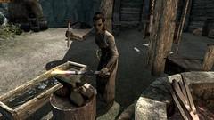Gharol - TESV_2018_02_25_03_57_16_618 (Borgakh gra Khazgur) Tags: gharol dushnikhyal orcstronghold gharolssmithy orc npc blacksmith working hammer orsimer merchant anvil skyrim