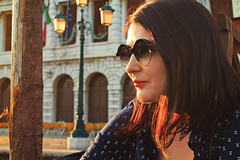 venezia (*° Daniela A. *°) Tags: venezia venice veneto italy italia dof photo photography face hair light luce sole sunglasses me selfportrait selfie portrait sunset tramonto