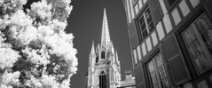 Cathedral St. Marie (phaul2001) Tags: aquitanien bw france frankreich ir blackandwhite infrared infrarot monochrom sw schwarzweiss