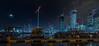 Dockside (MarkWaidson) Tags: londonflickrmeet2018 moon boats morning reflections cranes canarywharf gallery