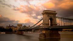 Chain Bridge - Budapest (jamessensor) Tags: budapest pont bridge river nuage cloud hongrie sunset