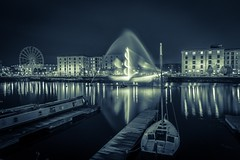 Ghost ship (Steve Samosa Photography) Tags: nightcapture ships sailing port harbour docks waterfront salthousedock albertdock ghostship liverpool england unitedkingdom gb