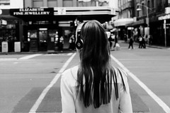 b (McLovin 2.0) Tags: candid street streetphotography crossing girls headphones beats urban city melbourne bokeh