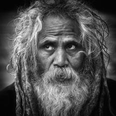 0729 Holy Man - Sadhu (Hrvoje Simich - gaZZda) Tags: portrait man old blackwhite monochrome eyes hair beard sadhu wise holyman nepal pokhara asia nikon nikond750 nikkor283003556 gazzda hrvojesimich