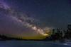 Starry Landscape (teresayvonne) Tags: sky lake milkyway stars trees ice