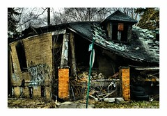Crash into Me (TooLoose-LeTrek) Tags: detroit fire house urbandecay blight abandonedhouse